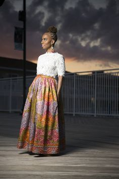 A F I Y A Belle Maxi African Print Skirt by LiLiCreations on Etsy