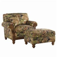 Island Estate Tropical West Shore Chair & Ottoman by Tommy Bahama Home at Becker Furniture World