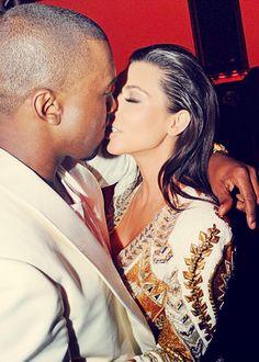 Kanye West & Kim Kardashian.