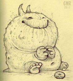 Kawaii! Cute monster critter doodles Chris Ryniak http://chrisryniak.com/ Chris…