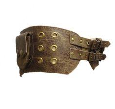 Aged Brown leather UTILITY POCKET BELT psytrance hip pack waist bag bumbag fanny pack. £39.00, via Etsy.