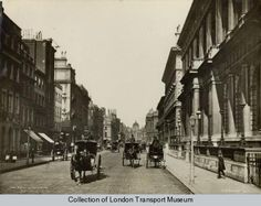 1880 Pall Mall, London, UK, featuring various clubs. Victorian London, Vintage London, Old London, Victorian Era, Old Pictures, Old Photos, Vintage Photos, Transport Museum, London Transport
