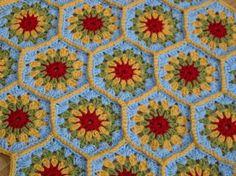Hexagon Granny Square Baby Blanket Crochet Afghan