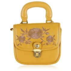 Bryony Handbag (230 RON) ❤ liked on Polyvore featuring bags, handbags, accessories, yellow bags, handbags bags, yellow hand bags, hand bags and handbag purse