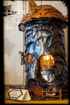 Shaped lamp fairytale wind mill by Artistelestordus on Etsy