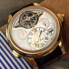 The impressive Mont Blanc Villeret Exotourbillon chronograph on the wrist.