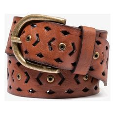 FOREVER 21 Cutout Faux Leather Belt ($6.80) ❤ liked on Polyvore