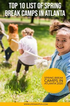 If you're looking for some great options for Atlanta Spring Break Camps, this top 10 list will keep your kids active and engaged during the school break. From athletic camps like golf academy, cooking, theatre, or exploring nature, there is truly something for every child and their interests. #Atlanta #SpringBreakCamps