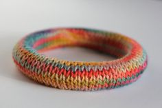 Handknit bracelet via Supermarno Studio on etsy.com