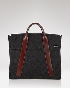 cbd2c52aff Jack Spade Leather Strap Wool Briefcase