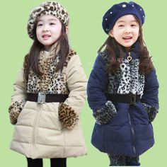 Wholesale - - Children's Trench Coats Girls Parkas Outerwear Babe Down Coat Kid Jackets Overcoat-CSL87A  US $115.00