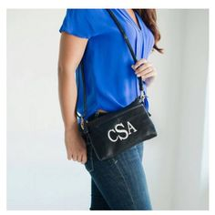 Check out this item in my Etsy shop https://www.etsy.com/listing/257428579/monogram-crossbody-clutch-purse-black