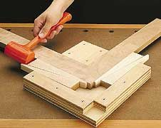 Jig for glueing miter joints- good for picture frames.