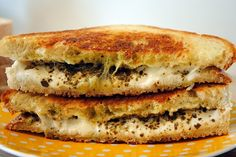 Pesto & mozzarella grilled cheese