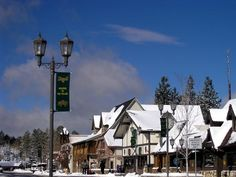 The Village with a blanket of snow, Big Bear