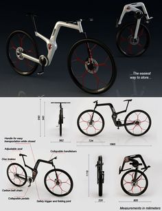 Motorcycle Frame Dimensions Design | ... features a cross between a mountain bike size and a city bike easy to