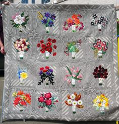 16th and Baltimore quilt by Anneliese of Eye Candy Quilts. Quilted by Kathleen G. Kerr | Kathleen Quilts