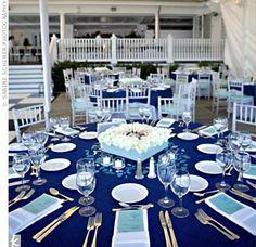 navy/aqua wedding