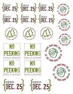 Christmas Printable Labels