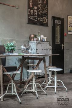 © Paulina Arcklin | Hometown Cafe in The Hague - wonderful stools