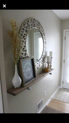 Shabby Chic Wooden Runner Entry Table Idea Entryway and Hallway Decorating Ideas Chic Entry idea Runner Shabby Table wooden Decoration Entree, Entry Tables, Sofa Tables, Narrow Entry Table, Dining Tables, Couch Table, Kitchen Tables, Home And Deco, Apartment Living