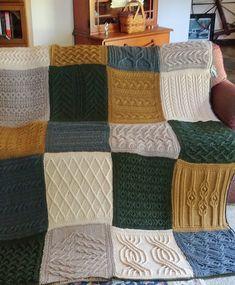 Free Knitting Pattern for Norah Gaughan Sampler Afghan - Norah's Vintage Afgha. Free Knitting Pattern for Norah Gaughan Sampler Afghan - Norah's Vintage Afghan -The amazing designer Norah Gaughan designed this sampler afghan made . Knitting Blocking, Knitting Squares, Loom Knitting, Knitting Stitches, Afghan Crochet Patterns, Knitting Patterns Free, Free Knitting, Crochet Afghans, Patchwork Blanket