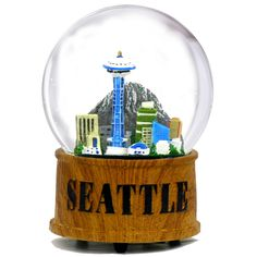 NYCwebStore.com - Skyline Musical Seattle Snow Globe, Wooden Base, $39.99 (http://www.nycwebstore.com/skyline-musical-seattle-snow-globe-wooden-base/)