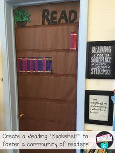 "A great way to foster a community of readers in class...set up a reading ""bookshelf""! Love it!!"