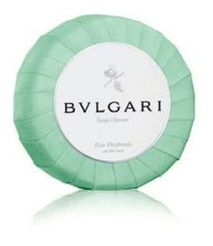 Bvlgari au the vert (green tea) bath soap 5.3oz Set of 6 by BVLGARI. $73.40. Made in Italy. Bvlgari au the vert soap. 150g or 5.3oz each, Set of 6. Scent - Eau Parfumée au thé Vert (Perfumed Green Tea). The Eau Parfumée notes in a soft and rich lathering soap for men and women. Cleanses the skin while hydrating it.