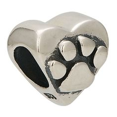 Dog Paw Print Authentic 925Sterling Silber Passend für Pandora Charms Armbänder - http://schmuckhaus.online/fit-pandora-style-charms/dog-paw-print-authentic-925-sterling-silber-fuer