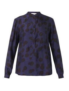 Stella McCartney Eva polka-dot-jacquard blouse