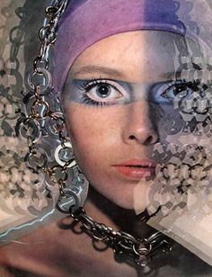 Retro Futurism #makeup i love the makeup ! it kinda looks like #Biba makeup !