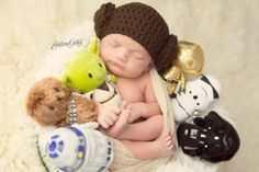 Star Wars Newborn Picture | Star Wars Newborn | Princess Leia Newborn | Baby Princess Leia | Baby Star Wars | Brittany Gidley Photography LLC