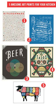 5 Awesome Art Prints For Your Kitchen