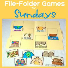 File Folder Game ideas for Sundays.
