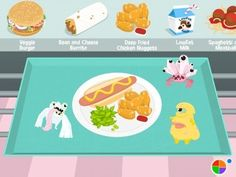"""Hairnet Hero: Game aims to """"teach kids what's in their food"""" by asking them to build a healthy school lunch"""