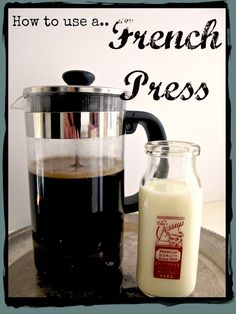 How to Use a French Press Coffee Maker. The best tasting coffee every time and so easy. Love the French Press. I Love Coffee, Coffee Break, My Coffee, Coffee Drinks, Coffee Shop, Coffee Cups, French Press Coffee Maker, French Coffee, Best Coffee Maker