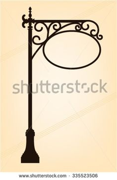 post, forged metal signboards