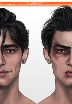 """xla-hainex: """" someone asked for Nicky? Digital Portrait, Portrait Art, Boy Art, Art Girl, Art Sketches, Art Drawings, Cover Wattpad, Poses, The Sims"""
