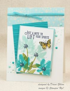 CCREW Step It Up #2 Challenge - SAB Avant Garden by Diana Gibson - Cards and Paper Crafts at Splitcoaststampers