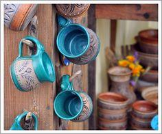 pottery + mugs.......(^^)