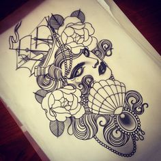 I've got a free booking Friday the 13th of June and I'd love to tattoo this. Ideal for a thigh. happy to make small changes. If you'd like this booking please email emulrose@hotmail.com cheers :)