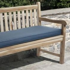 window seat @Overstock - This bench cushion will add style, dimension and color to your patio, deck, garden or lanai. This cushion features stain, fade and mildew resistant P. Kaufmannfabric trimmed with matching cording and ties to secure the cushion to the furniture.http://www.overstock.com/Home-Garden/Kate-48-inch-Outdoor-Marine-Blue-Bench-Cushion/5903345/product.html?CID=214117 $63.99
