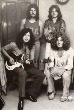 Led Zeppelin. Jimmy Page on a Danelectro guitar.