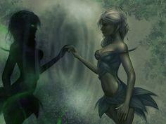 sylvari necromancer by Trisstiz on DeviantArt High Fantasy, Fantasy Girl, Fantasy Heroes, Fantasy Characters, Guild Wars 2, Fantasy Images, Necromancer, Video Game Art, Fantasy Creatures