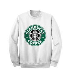 Hey, I found this really awesome Etsy listing at http://www.etsy.com/listing/176780144/starbucks-logo-sweatshirt-white-crewneck