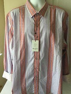 New Robert Graham Mens Shirt Size 3XL Kinvara Stripped Geo Design NWT $ 198