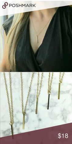 First boutique item! Single gold bar necklaces! Super cute single bar necklace. Looks cute with any top. Add to any bundle! Wila Jewelry Necklaces