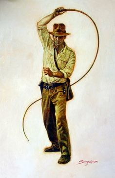 Indiana Jones by Sanjulian , in jay leisten's personal: Jay's collection Comic Art Gallery Room Henry Jones Jr, Indiana Jones Adventure, Indiana Jones Films, Adventure Movies, Harrison Ford, Ancient Artifacts, Comic Book Characters, Cultura Pop, Illustrations
