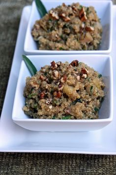 Quinoa Stuffing with Apples [a gluten-free alternative to Thanksgiving bread stuffing]